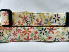 Beige Floral Dog Collar by HalasPaws on Etsy