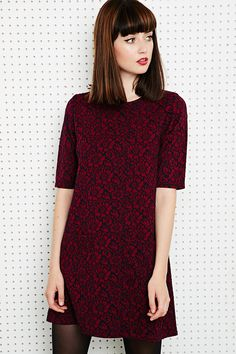 Cooperative Daisy Dress in Burgundy at Urban Outfitters.