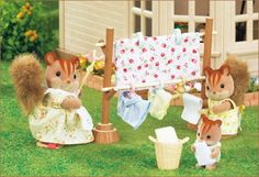 SYLVANIAN FAMILIES JP CALICO CRITTERS KA-610 OUTDOOR Washing Accessory Set NEW #DoesNotApply
