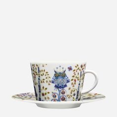 Iittala - Products - Eating - Dinnerware - Coffee/cappuccino cup 0.2 L/saucer 15 cm, white - this is how I celebrate morning...with the wise owl, it inspires me and my cappuccino.