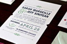 #Wedding #Invitations we Love: Sarah & Jeff at Oh So Beautiful Paper