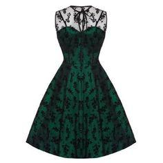 Voodoo Vixen Womens Ladies New Vintage Flower Flocked Lace Net Party Prom Dress: Amazon.co.uk: Clothing