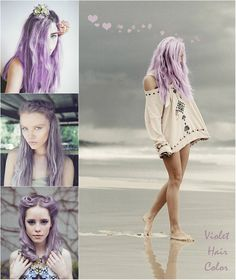 flattering light purple hair style for girls in autumn 2013 with hair extension
