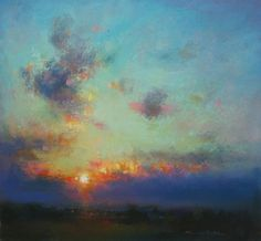 Norman Smith, Late Western Light (pastel)