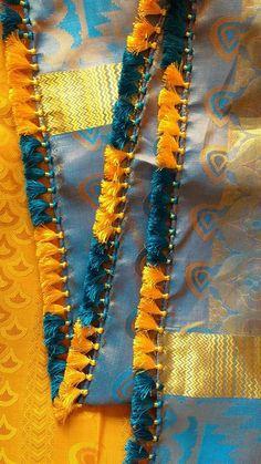 Saree Tassels Designs, Saree Kuchu Designs, Rangoli Designs, Blouse Designs, Embroidery Saree, Embroidery Patterns, Latest Gold Ring Designs, Indian Hairstyles For Saree, Gold Bangles Design