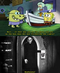 Favorite Halloween Episode of Spongebob. Funny Spongebob Memes, Funny Jokes, Spongebob Squarepants, Humor, Pineapple Under The Sea, Funny Moments, Swagg, My Childhood, My Idol