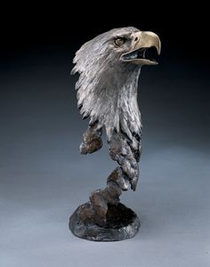 Mark Hopkins is considered one of the premier sculptors in the United States today. From tabletop sculpture to monuments, his work is displayed in homes, offices, and public settings around the world. Bird Sculpture, Bronze Sculpture, King Cobra Snake, Trophy Design, Car Ornaments, Hawks, Eagles, Sculpting, Lion