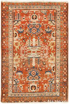Antique Persian Bakshaish Rug 48243 Detail/Large View