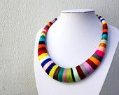 Agatha necklace, necklaces, statement necklace, multicolor, colorful, crochet, choker, african necklace, tribal jewelry, collar necklace