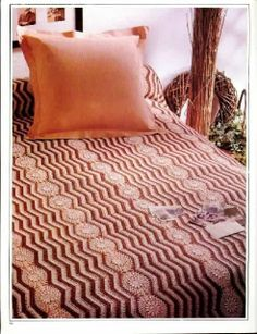"""Busy, busy make me dizzy"" wow nice bedspread ♥LCB♥ with diagram"