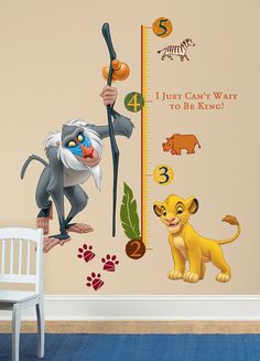 Disney The Lion King Wall Decal Growth Chart SKU door Wallhogs, $44.99