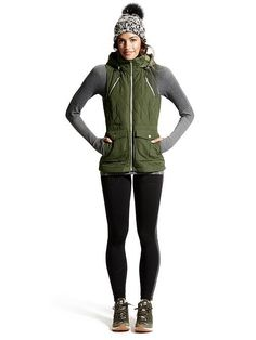 Looks We Love Running Hiking Tetons Vest 148 ribbed rhinestone wool turtleneck Climbing Outfits, Climbing Pants, Rock Climbing, Camping Outfits For Women, Womens Hiking Outfits, Hiking Gear For Women, Trekking Outfit, Fall Hiking Outfit, Hiking Dress