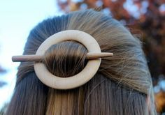 Oak Wooden Shawl Pin or Hair Stick by McCutchwoodworks on Etsy