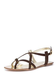 Dsquared2 Women Brown Gold Suede Leather Gladiators Flat Sandals Slingback Shoes US 10 EU 40. Adjustable intersecting ankle straps. Designer logo on insole. Gold detailing. Brown suede. IMPORTANT: See Our Shoes Buying Guide & Policy.