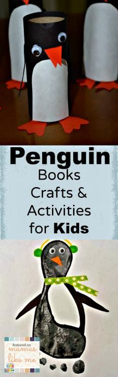 Mamas Like Me: Penguin Books, Crafts & Activities for Kids #winter #crafts #kids