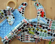 Baby Boy Gift Set Woodland Teepee Bib Burp от EpidendronLittle