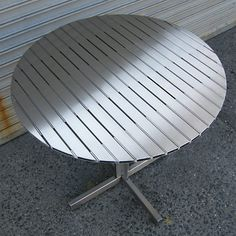 Stainless Steel Cafe Table Plans - Step by Step DIY Stainless Steel Table