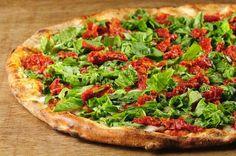 Pizza VEGAN com massa Integral