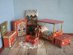 Vintage Miniature Dora Kuhn Bedroom Furniture  5 by TheToyBox