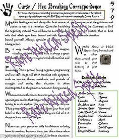 Banishing Curse & Hex Breaking Corr for Pagan Wicca Book of Shadows Witchcraft Black Magic Spell Book, Black Magic Spells, Real Spells, Love Spells, Pagan, Wicca Witchcraft, Magick, Wiccan Books, Letter Size Paper