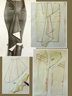 37 Ideas for diy fashion clothing dress costura Techniques Couture, Sewing Techniques, Dress Sewing Patterns, Clothing Patterns, Pattern Sewing, Skirt Sewing, Pattern Cutting, Sewing Projects For Beginners, Sewing Tutorials