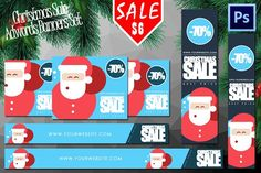 Christmas Sale Adwords Banners Set by Flotas Media Market on @creativemarket