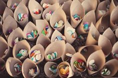 craft paper cones : fill with lavender buds instead of confetti