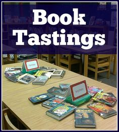 Tastings: 7 Steps to Promote Your Best Books! Book Tastings: 7 Steps to Promote Your Best Books! School Library Displays, Middle School Libraries, Elementary School Library, School Library Lessons, Public Libraries, Elementary Schools, Library Lesson Plans, Library Skills, Reading Skills