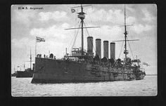 HMS Argonaut was a ship of the Diadem-class of protected cruiser in the British Royal Navy. In mission between Madeira and Azores from November 1914 to September 1915 (Em missão entre a Madeira e os Açores entre Novembro de 1914 e Setembro de 1915).