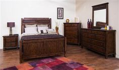 Safari Wood Master Bedroom Set 2342SB-BR