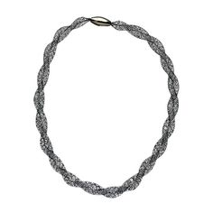 Seraphina Black Mesh Twisted Necklace ($45) ❤ liked on Polyvore