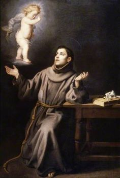 The Vision of Saint Anthony of Padua, by Bartolomé Esteban Murillo. Date painted: 1650–1670. Oil on panel, 209.8 x 144.5 cm. Birmingham Museums Trust