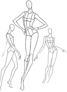 Plantillas base figurines de moda, poses de movimiento #fashion www.figurinesdemoda.com