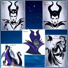 Maleficent Layered and Silhouette SVG files Disney