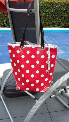Wachstuchtasche Shopper Strandtasche Badetasche von Prinzidee auf DaWanda.com