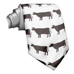 sold 1 black and white cow pattern mens neck tie