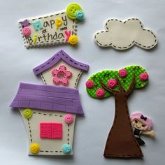 Lalaloopsy fondant cake decoration set. $35.00, via Etsy.