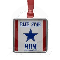 Blue Star Mom Military Christmas Ornament from Zazzle.com