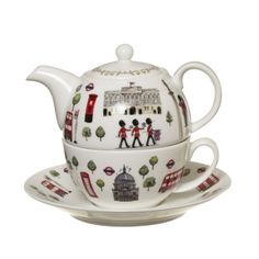 WANT ONE!!!!!!!!!!!Iconic London Tea for One | English Teapots | Fine Bone China Teapots | Whittard of Chelsea US