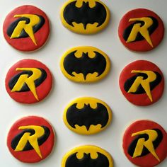 Batman and Robin Logos (26 Fun Cookies For Any Superhero Fan)