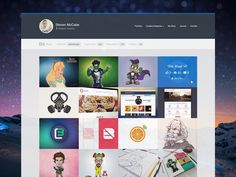 Early stages of the development of a creative network portfolio WordPress theme that will have many networks to showcase your work, including Dribbble, Bēhance etc. Why create a portfolio from scra...