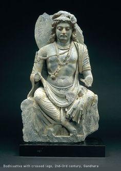 Bodhisattva with crossed legs, 2nd-3rd century, Gandhara