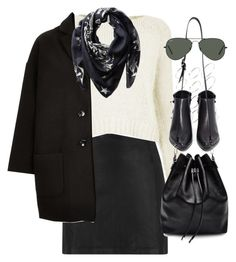 """""""Outfit for winter"""" by ferned ❤ liked on Polyvore featuring T By Alexander Wang, Topshop, ASOS, Givenchy, Grey City, Proenza Schouler and Ray-Ban"""
