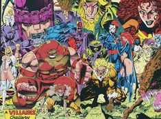 X-Men's Rogues Gallery by Jim Lee (early 90s)