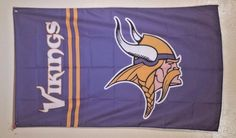 NFL Minnesota Vikings Football Flag Banner 3x5 Mancave Tailgate FREE SHIPPING #MinnesotaVikings
