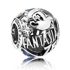 Celebrate the magic of Sorcerer Mickey and Walt Disney's pioneering <i>Fantasia</i> with this 75th anniversary charm by PANDORA. Fashioned in sterling silver, it's detailed with shimmering black and blue enamel.