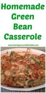 Homemade Green Bean Casserole #SundaySupper • Family Around the Table
