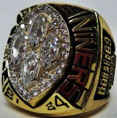 cfb93e08abf486 1989 San Francisco 49ers NFL Super Bowl Championship Replica Rings.  Football Rings
