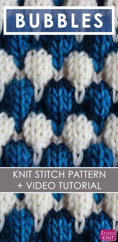 2 colors makes it pop! Bubble Knit Stitch Pattern with Easy Free Pattern + Knitting Video Tutorial by Studio Knit. Baby Cardigan Knitting Pattern Free, Knitting Stiches, Knitting Videos, Baby Knitting Patterns, Knitting Projects, Stitch Patterns, Crochet Patterns, Free Knitting, Bobble Stitch