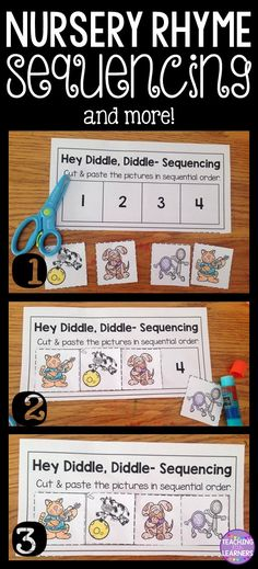 Nursery Rhymes~ Sequencing and other activities to supplement your Nursery Rhyme Unit!